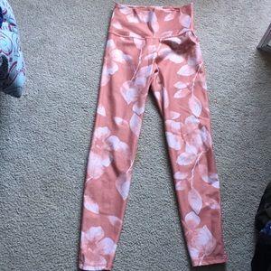 Pink Patterned Aerie Leggings